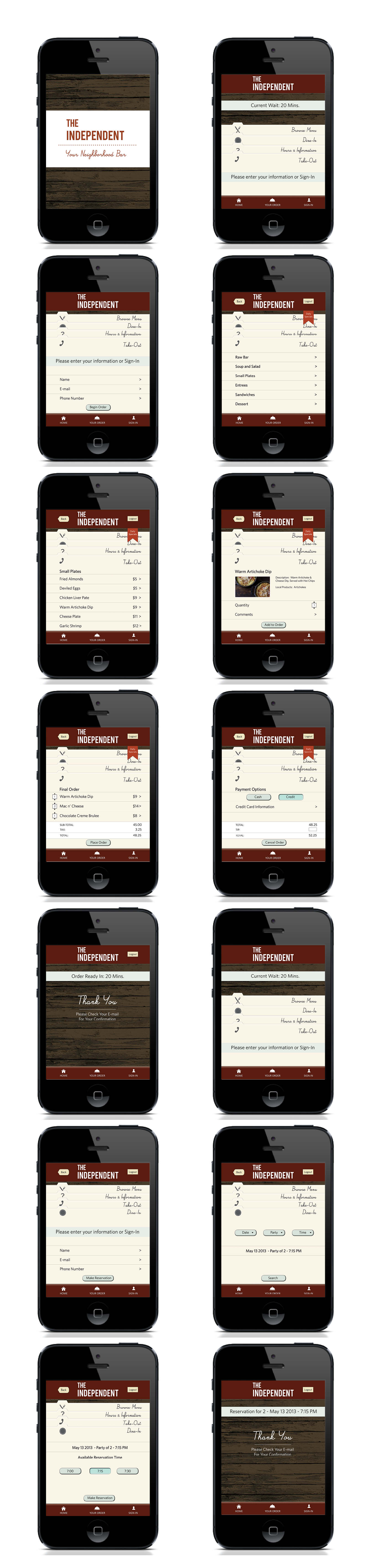 Mobile App Layout